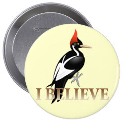 Round Button with I Believe design