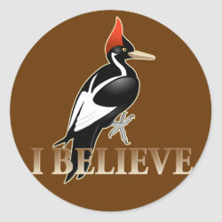 Round Sticker with I Believe design