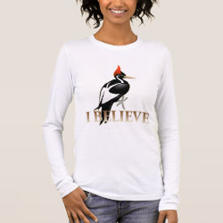 Women's Basic Long Sleeve T-Shirt with I Believe design