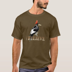 Men's Basic Dark T-Shirt with I Believe design