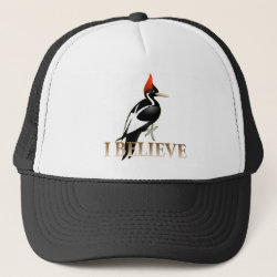 Trucker Hat with I Believe design