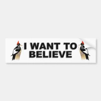 IBWO: I Want To Believe Car Bumper Sticker