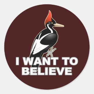 IBWO: I Want To Believe Classic Round Sticker