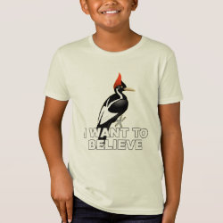 Kids' American Apparel Organic T-Shirt with I Want To Believe design