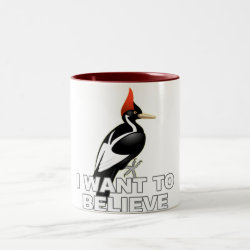 Two-Tone Mug with I Want To Believe design