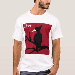 Men's Basic T-Shirt with iLive design