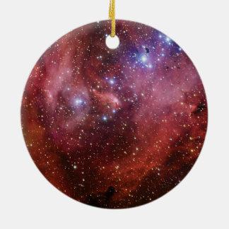 IC 2944 Running Chicken Nebula Lambda Cen Nebula Ceramic Ornament
