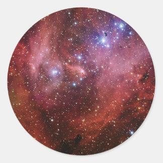 IC 2944 Running Chicken Nebula Lambda Cen Nebula Classic Round Sticker