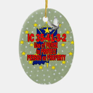 IC 35-41-3-2 STAND YOUR GROUND INDIANA CERAMIC ORNAMENT