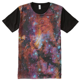 IC 4628 Prawn Nebula - Colorful Outer Space Photo All-Over-Print T-Shirt