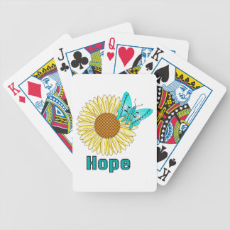 IC Butterfly on Sunflower Bicycle Playing Cards