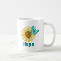 IC Butterfly on Sunflower Coffee Mug
