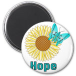 IC Butterfly on Sunflower Fridge Magnets