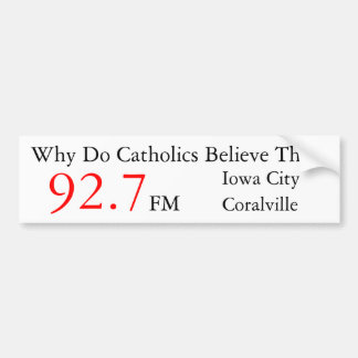 IC/ Coralville Catholic Radio Bumper Sticker