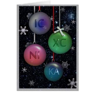 IC XC NI KA Orthodox christmas greeting card