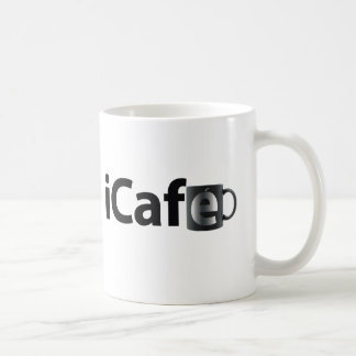 iCafe. Black cup Classic White Coffee Mug