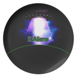 iCAliens Official UFO Logo Plate