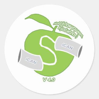 iCAN Classic Round Sticker