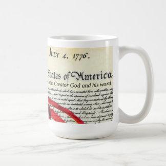 ican flag and Declaration Of Independence Coffee Mug