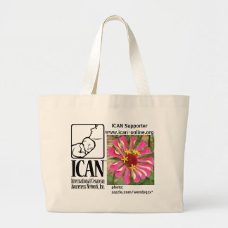 ICAN pink-flower tote -- do not buy!