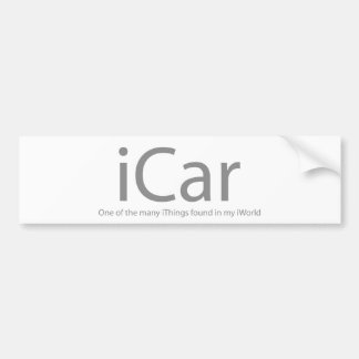 iCar Etiqueta De Parachoque