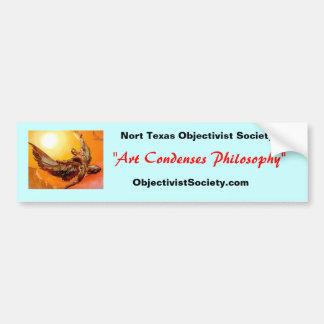 icar_s, ObjectivistSociety.com, Nort Texas Obje... Car Bumper Sticker