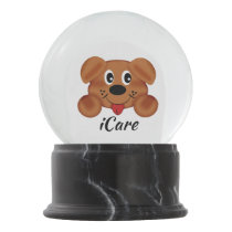 iCare Black Marble Finish Snow Globe