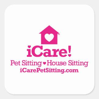 iCare!—iCarePetSitting.com Square Sticker