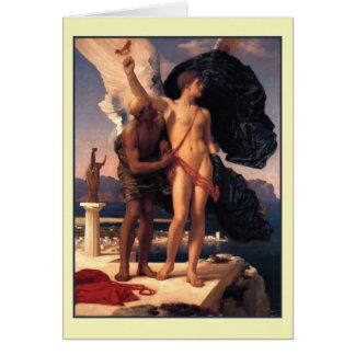 Ícaro y Daedalus de Frederick Leighton Tarjeta De Felicitación