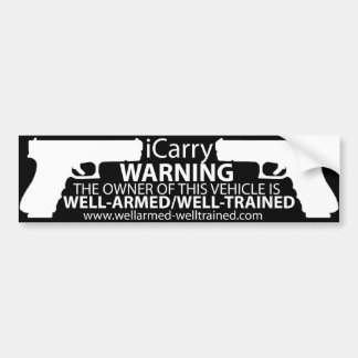 iCarry/Armed & Trained - Bumper Sticker2 Bumper Sticker