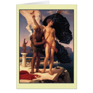 Icarus and Daedalus by Frederick Leighton Greeting Card