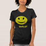 =IcaruS= Cheeky Git!: Ladies Tshirt - dark
