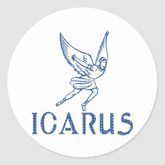 Icarus Classic Round Sticker
