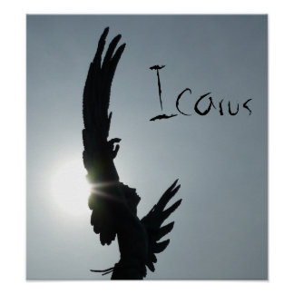 Icarus Silhouette Poster