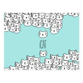 iCat - funny cat pattern Postcard