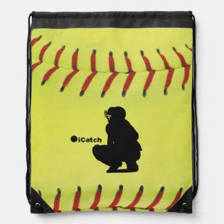 iCatch Fastpitch Softball Drawstring Backpack