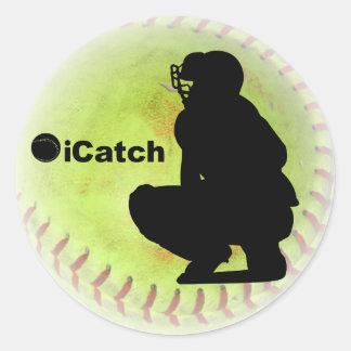 iCatch Fastpitch Softball Round Stickers