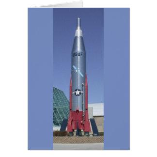 Icbm del atlas en el museo de espacio aéreo felicitación