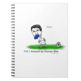 ICD-10: Asalto Y04.1 por la mordedura humana Libros De Apuntes Con Espiral
