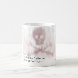 ICD-10: T43.612 Poisoning by caffeine, intentional Coffee Mug
