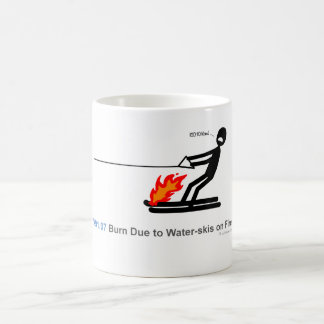 ICD-10: V91.07 Burn Due to Water-skis on Fire Classic White Coffee Mug