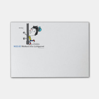 ICD-10: W22.02 Walked into lamppost Post-it® Notes