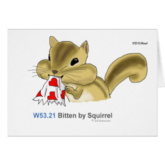 ICD-10: W53.21 Bitten by squirrel Card