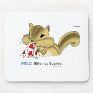 ICD-10: W53.21 Bitten by squirrel Mouse Pad