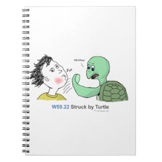 ICD-10: W59.22 Struck by turtle Notebooks