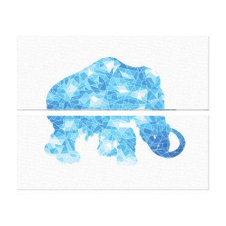 Ice Age Blue Crystal Mammoth Canvas Print