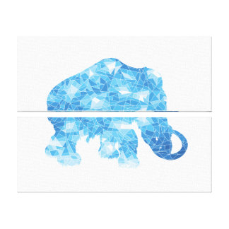 Ice Age Blue Crystal Mammoth Gallery Wrap Canvas