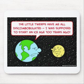 ice age earth moon discombobulated mouse pad