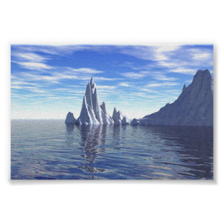 Ice Age Mountains Poster