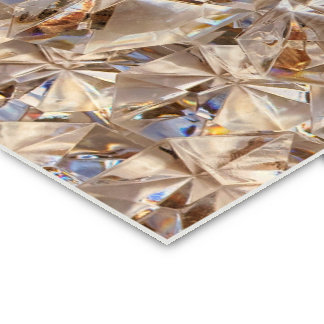 Ice Amber Diamond Crystals Glitter Bling Double-Sided Standard Business Cards (Pack Of 100)
